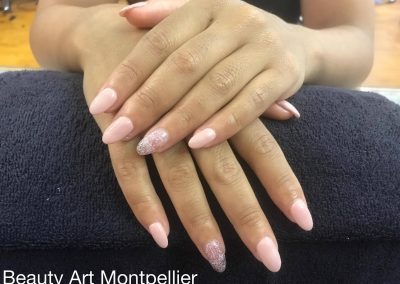 Ongles en gel Montpellier, French, Vernis semi-permanent, baby-boomer, beauté des pieds