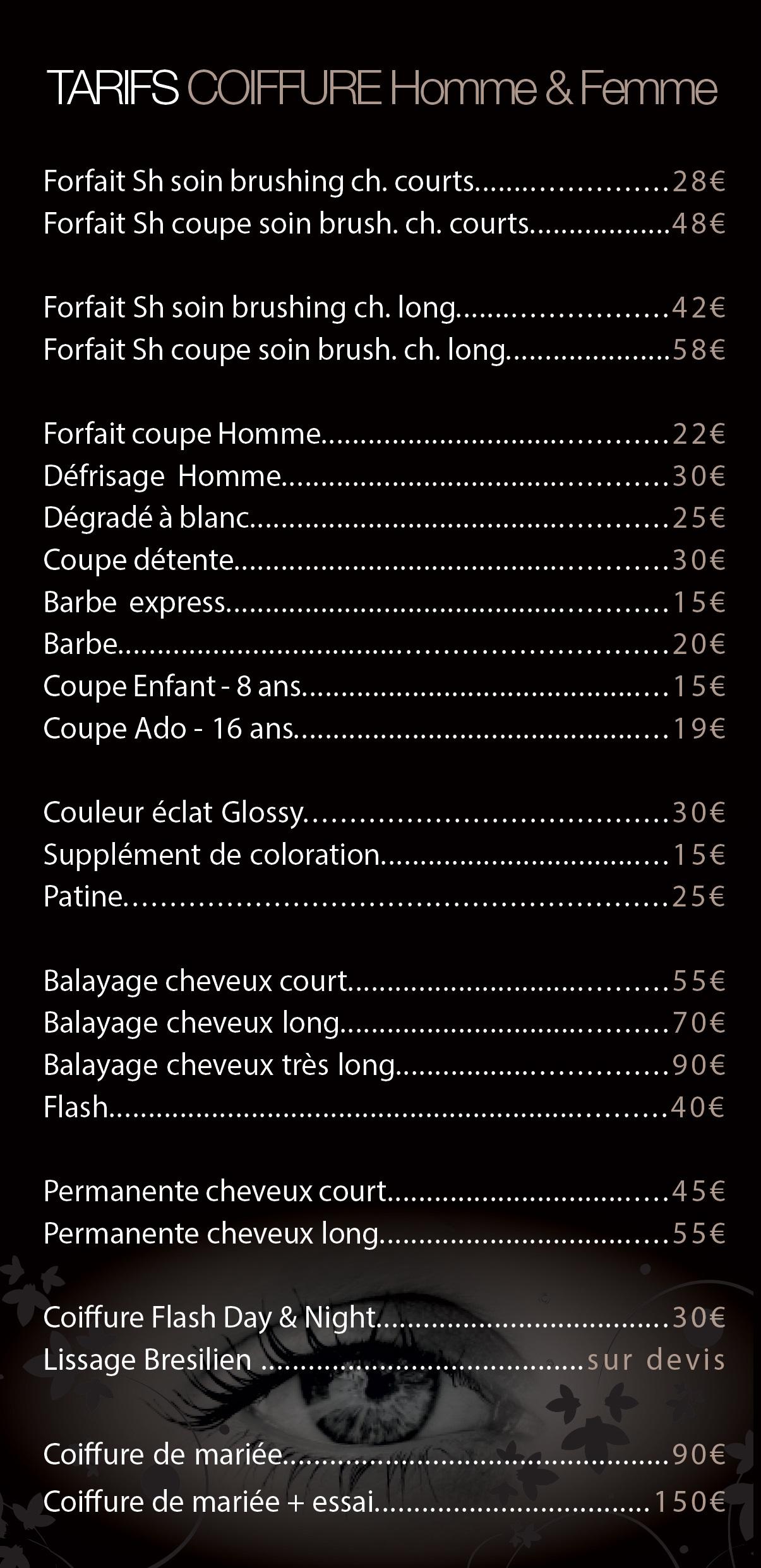 Tarifs salon de coiffure Montpellier