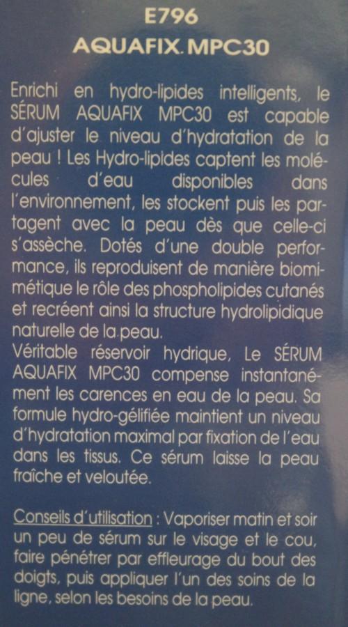 AQUAFIX MPC30 / SÉRUM FIXATEUR D'EAU - E796