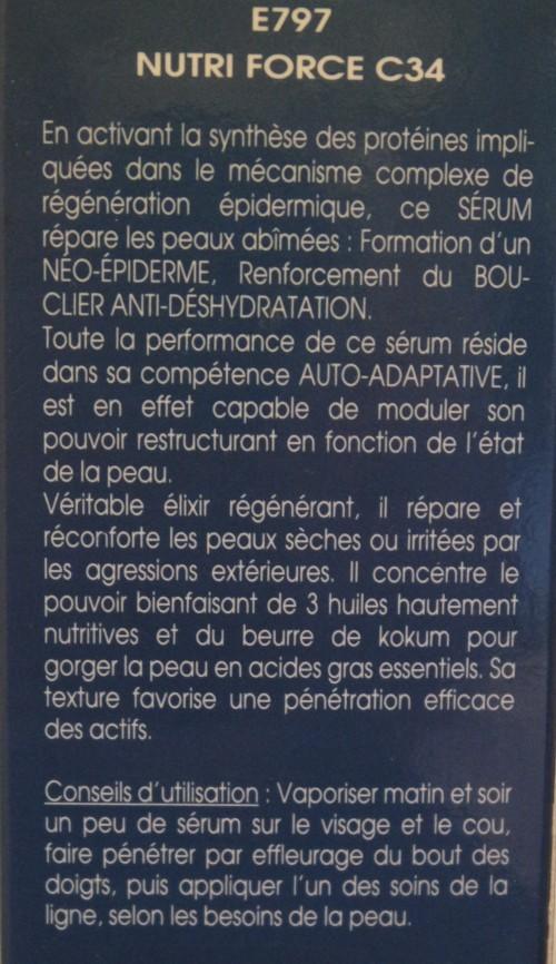 NUTRI FORCE C34 / SÉRUM RÉPARATEUR - E797