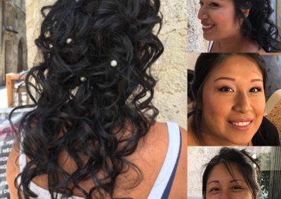 salon de coiffure Montpellier, mariage, chignon