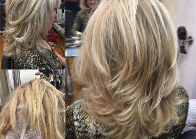 salon de coiffure, balayage, mèche, brush